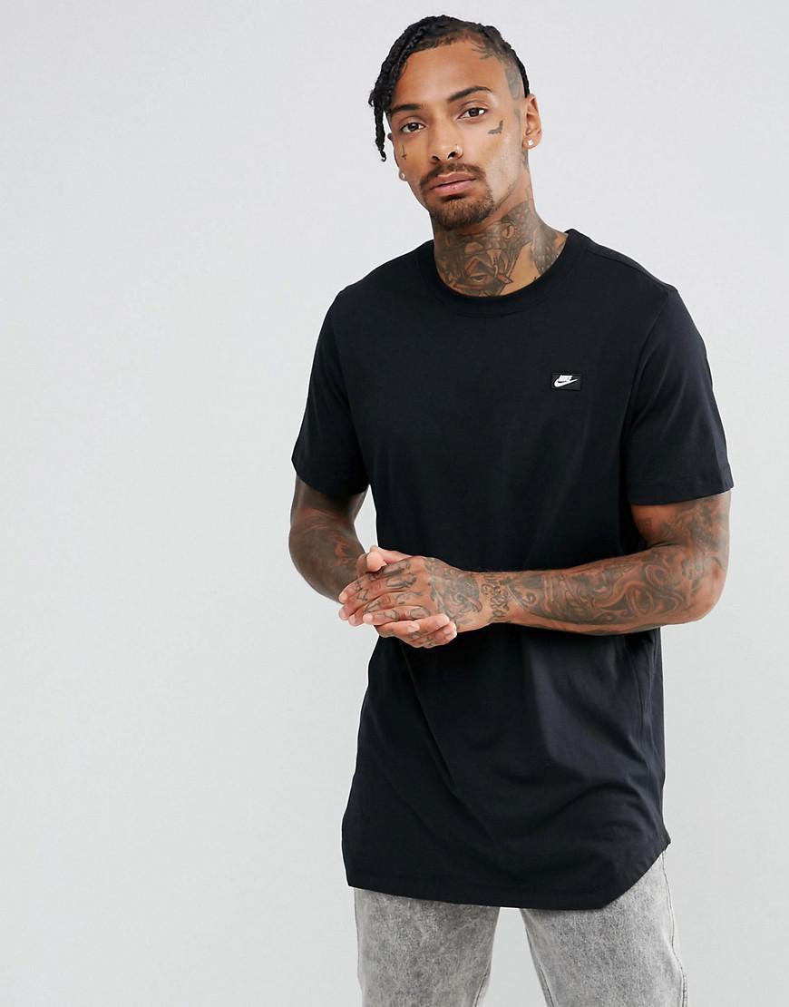 Lyst - Nike Modern Longline T-shirt In Black 873239-010 in Black ...