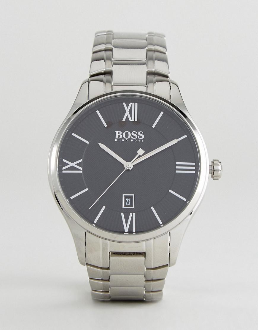 c83406065d3 Lyst - BOSS By Hugo 1513488 Governor Bracelet Watch In Silver in ...