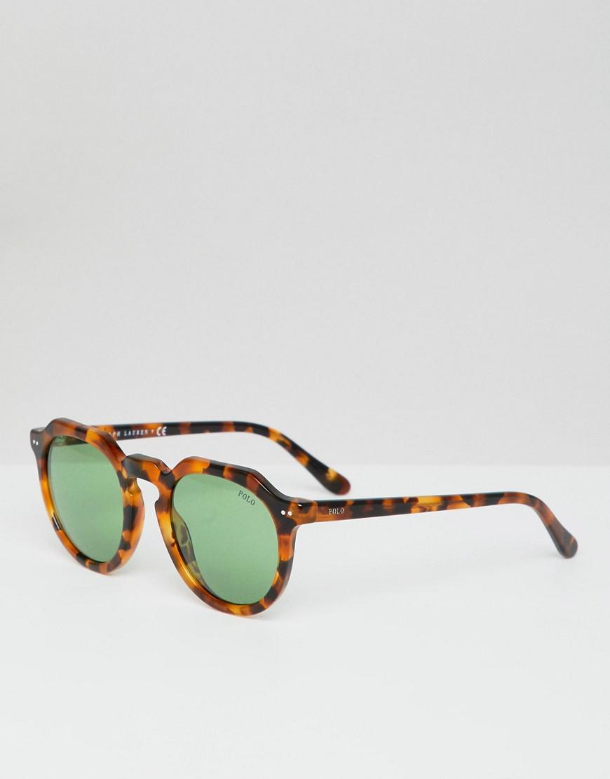 Lyst - Lunettes de soleil rondes motif écaille Polo Ralph Lauren ... f0400bd3eb23