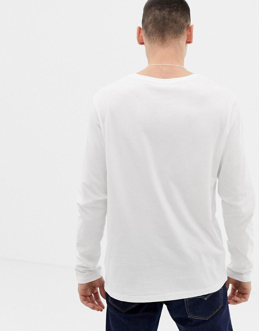 9ffe8f58897d Tommy Hilfiger Flag Icon Long Sleeve Top In Organic Cotton In White in  White for Men - Lyst
