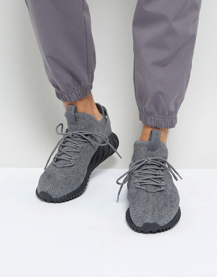 adidas originali tubulare doom sock primeknit scarpe in grigio by3564