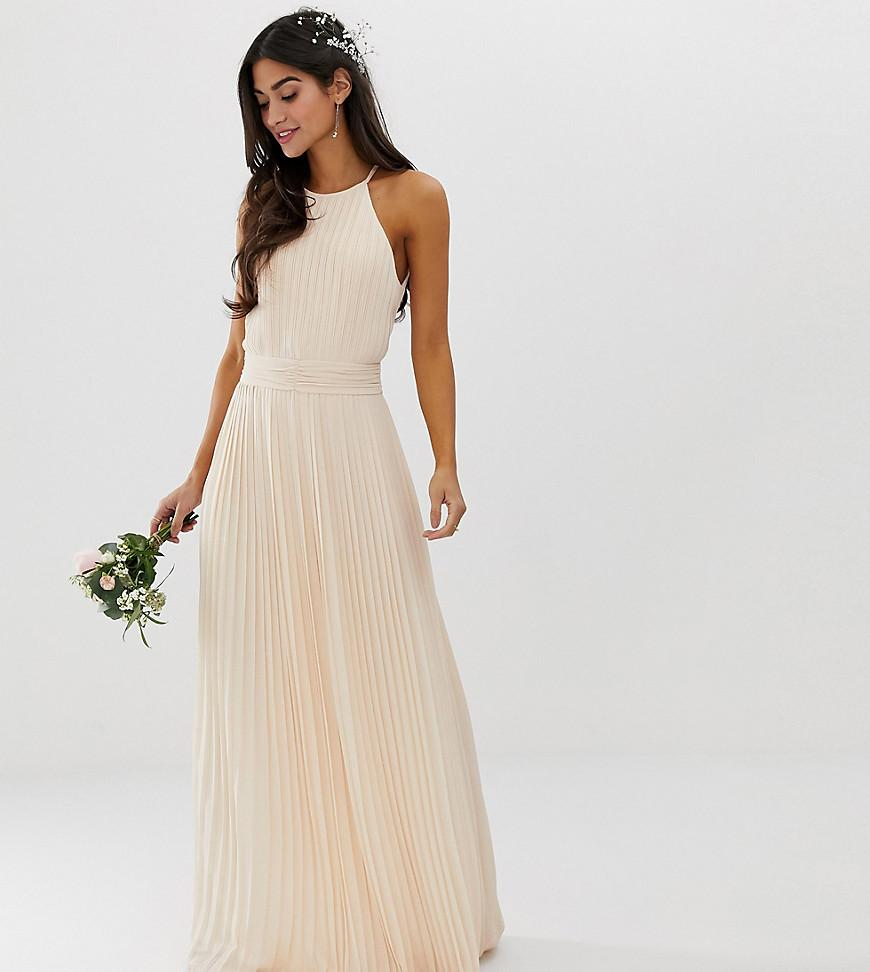 5a467009d1 TFNC London. Women s Bridesmaid Exclusive High Neck Pleated Maxi Dress ...