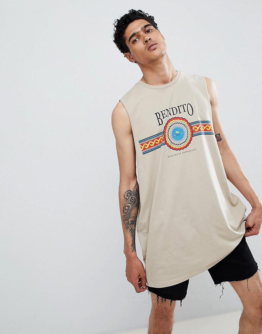 Asos design oversized super longline sleeveless t shirt for Asos design free t shirt