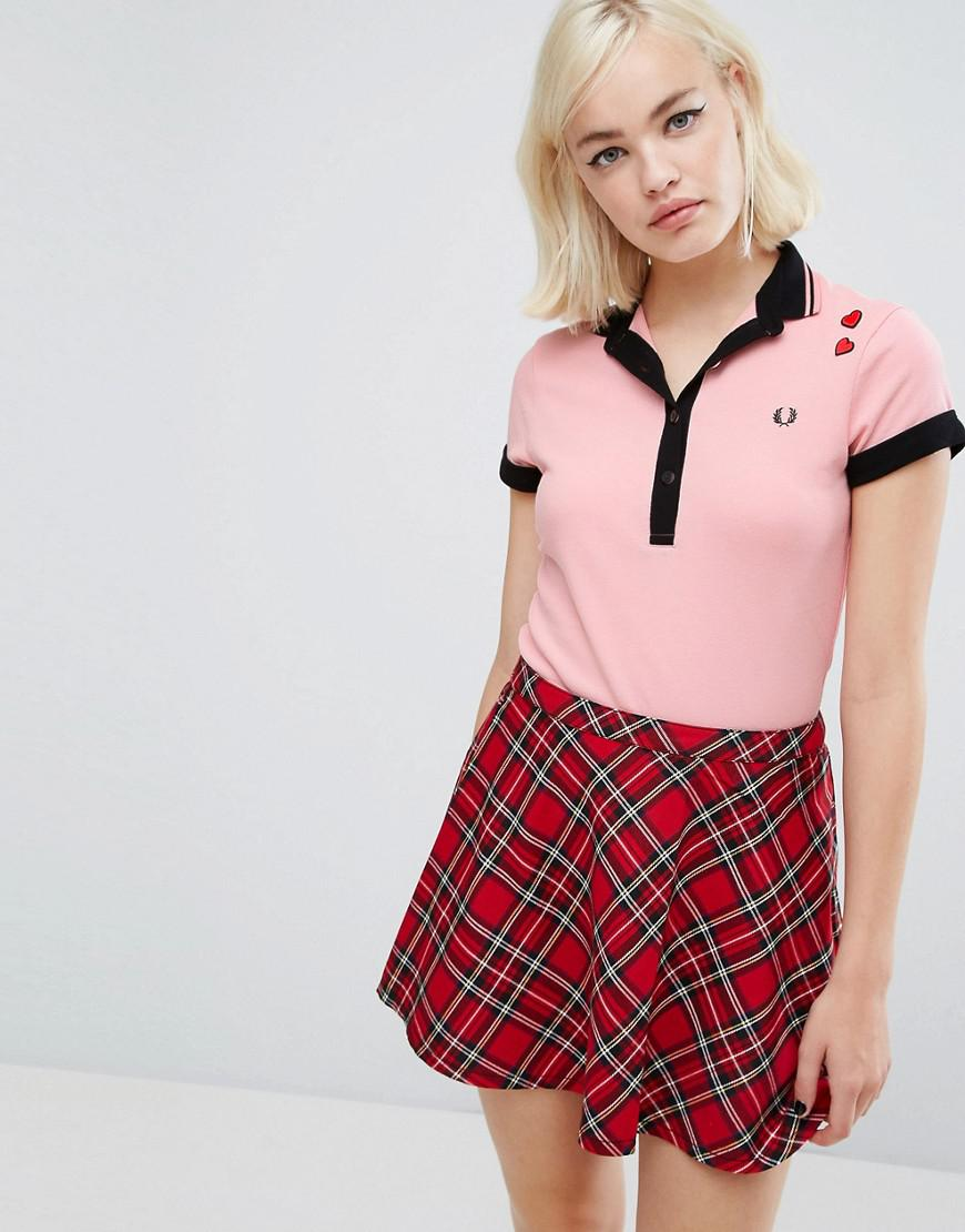 125ef0a6 Fred Perry Amy Winehouse Foundation Polo Shirt in Pink - Lyst
