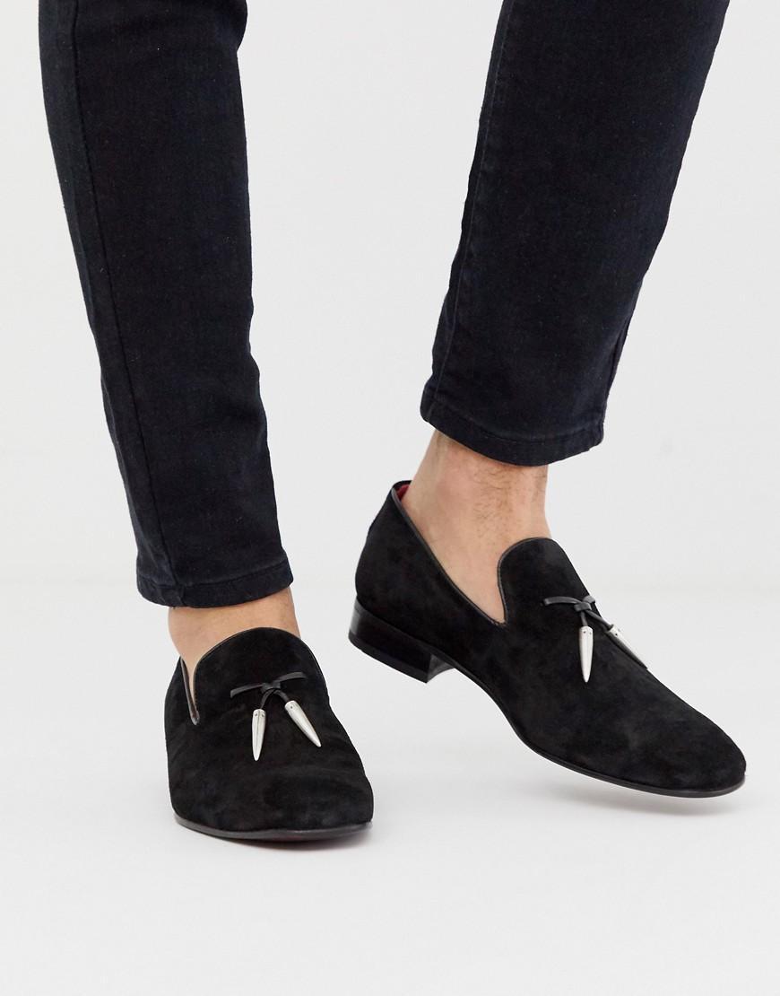 e3b29b134e90 Jeffery West Jung Tassel Loafers In Black Suede in Black for Men - Lyst