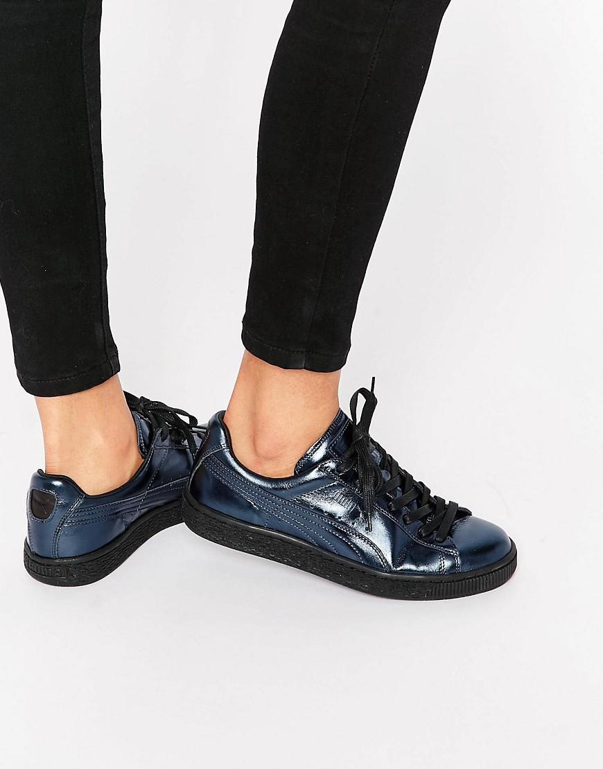 puma basket platform metallic sneaker. Black Bedroom Furniture Sets. Home Design Ideas