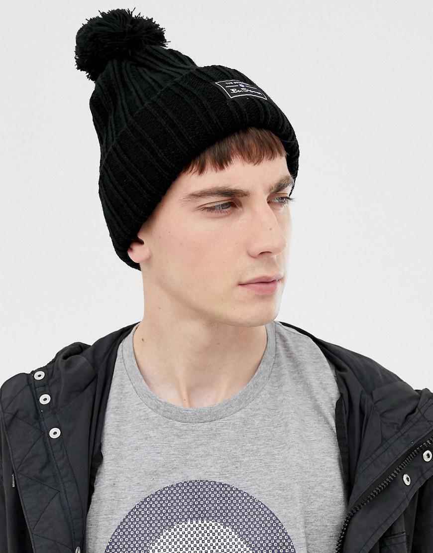 6ca98f52e11 Ben Sherman Mccree Bobble Hat in Black for Men - Lyst