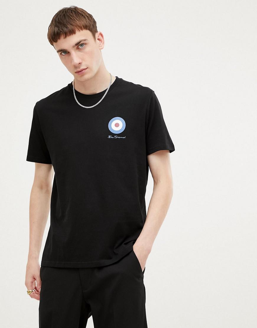 50557c4d7 Ben Sherman Medium Target T-shirt in Black for Men - Lyst