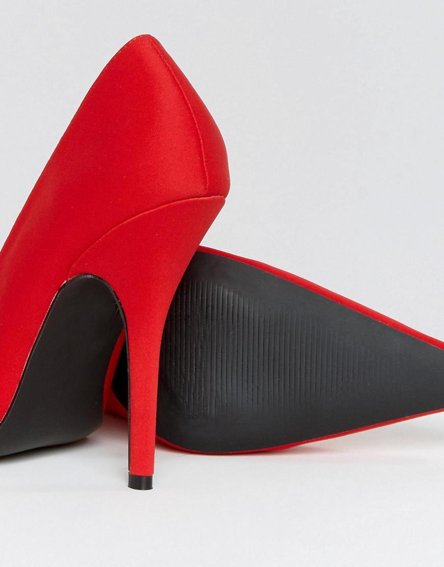 Tease Stiletto Heeled Shoes - Red Public Desire FjGApUb22O