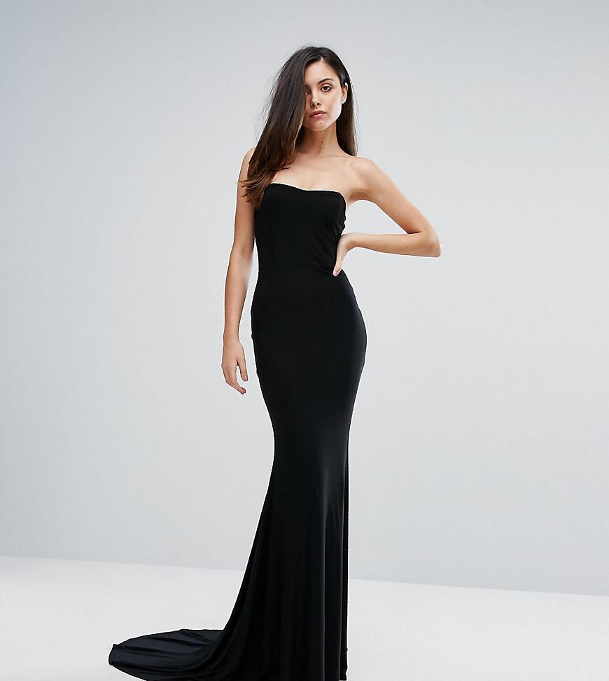 e31323d32582 Club L Bandeau Fishtail Maxi Dress in Black - Lyst