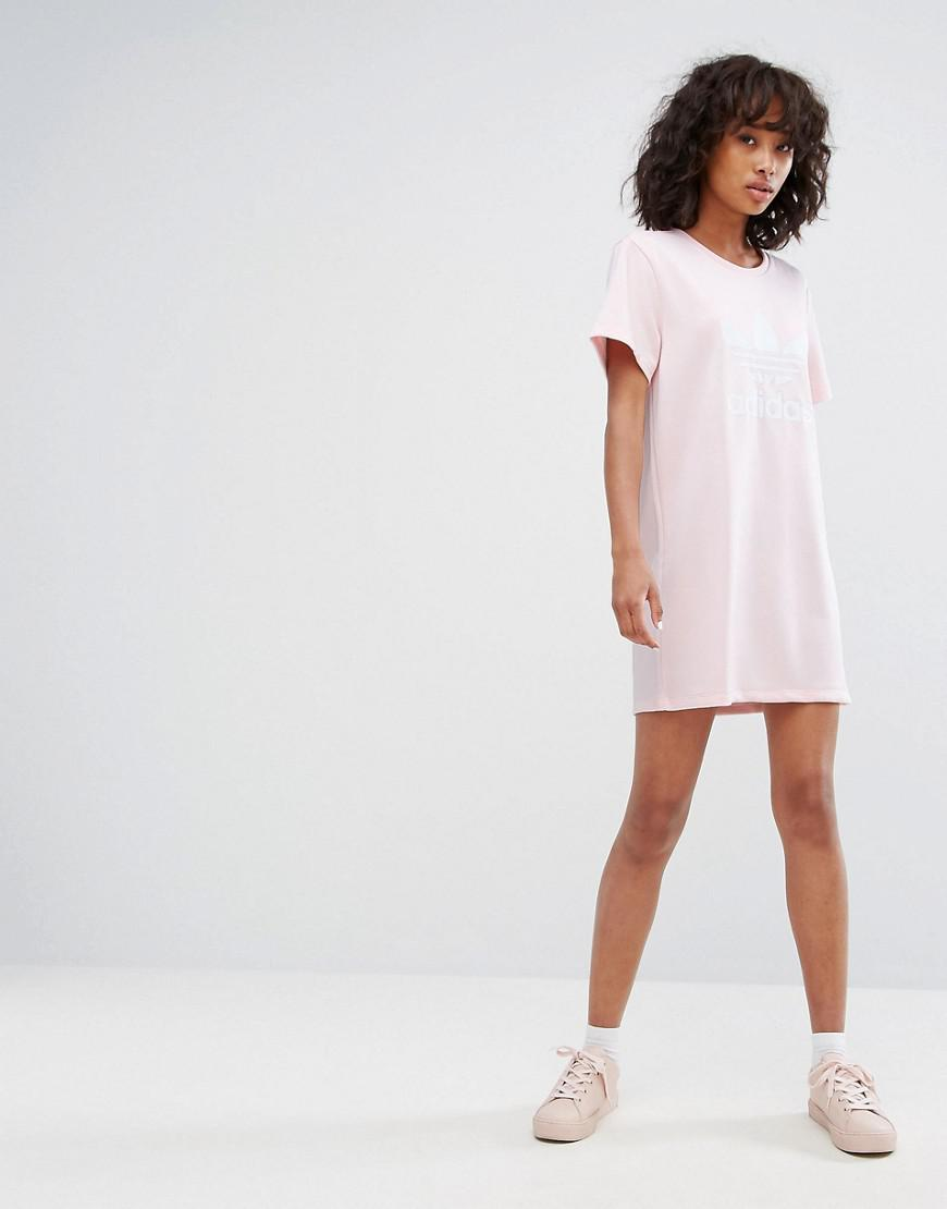 adidas trefoil t shirt dress