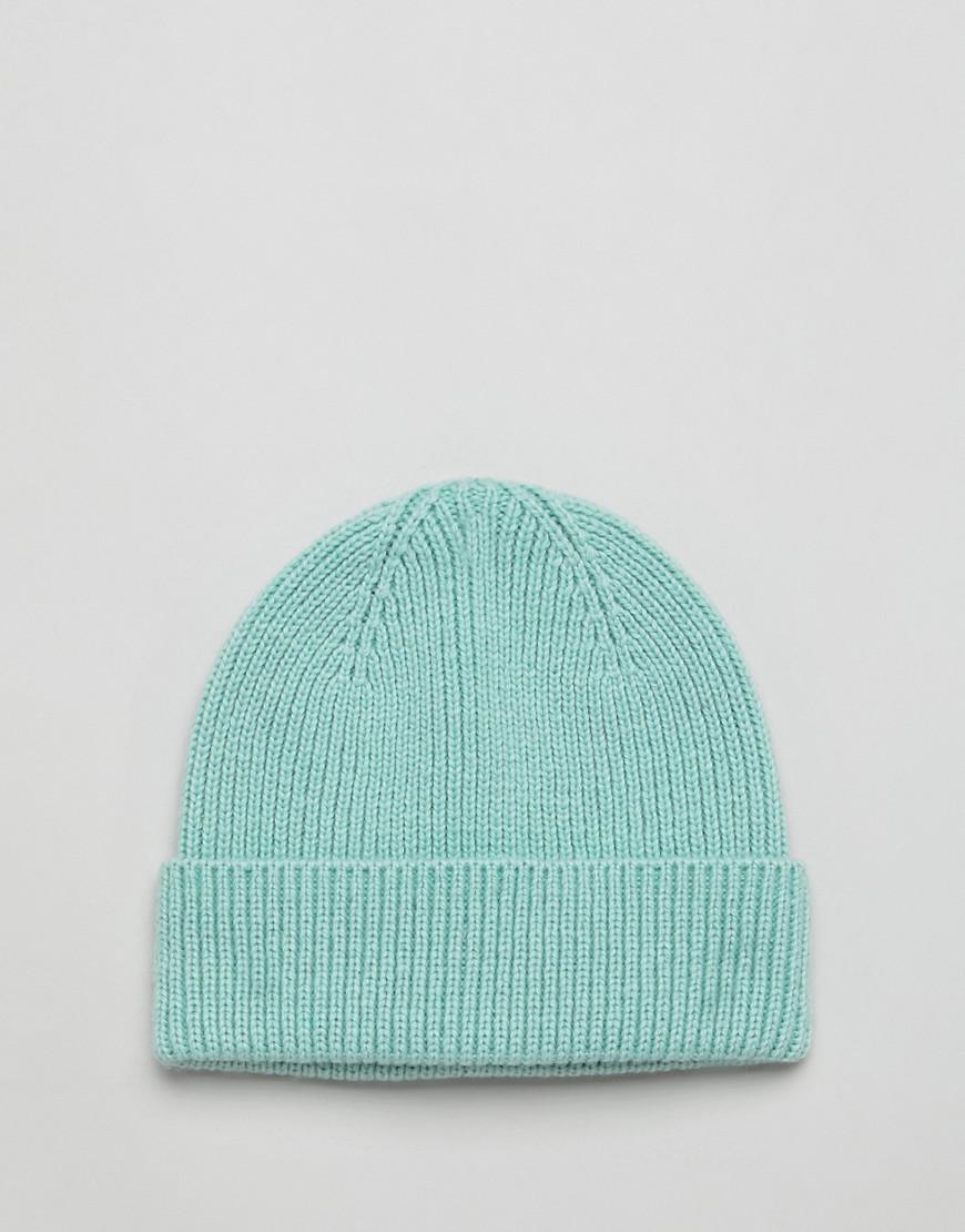 Lyst - ASOS Fisherman Beanie In Sage Green Recycled Polyester in Green for  Men 771a32a6abb