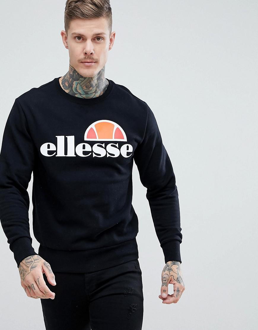 9ea6df1bacc3 Ellesse Sweatshirt With Classic Logo In Black in Black for Men - Lyst
