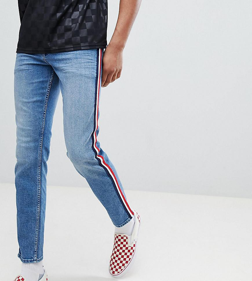 Clearance Best Prices DESIGN Tall Tapered Jeans In Mid Wash - Mid wash blue Asos Best Supplier Cheapest For Sale Discount Wholesale Price 2018 New QyN5g