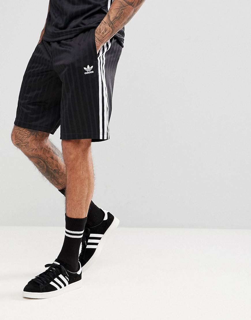 4d65a38bc adidas Originals Adicolor Retro Shorts In Black Cw1299 in Black for ...