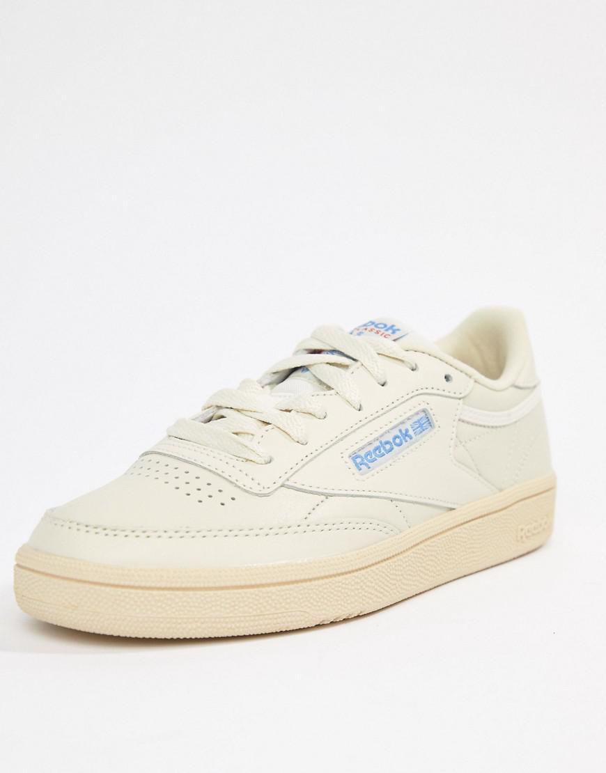 26bf92ec99806 Reebok Club C 85 Chalk Sneakers in White - Lyst