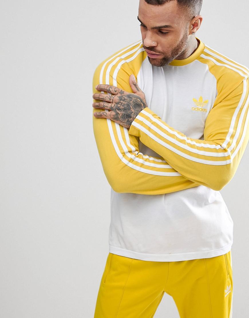 Adidas Originals Adicolor Longsleeve Top In Yellow Cw1230 In Yellow