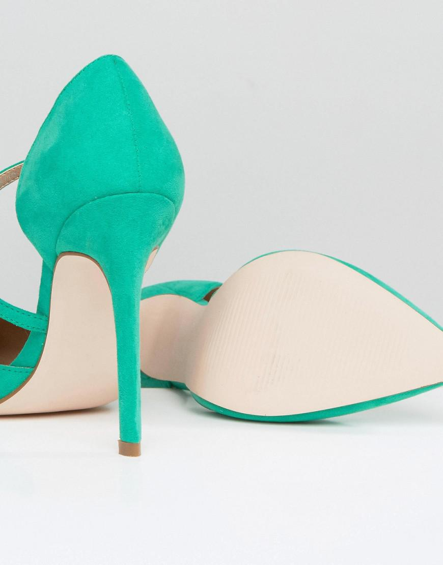 PETAL Asymmetric Pointed High Heels - Green Asos wb9esE