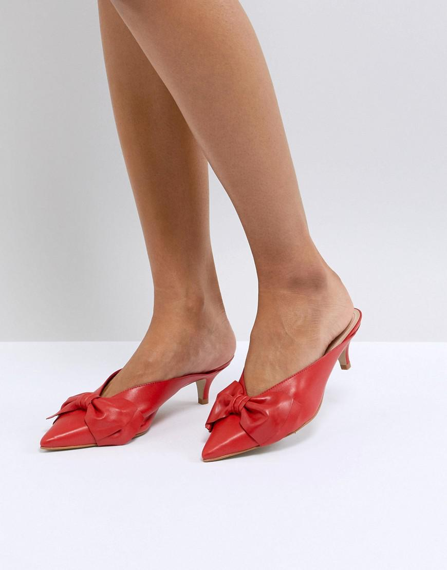 Argonite Red Suede Kitten Heels With Pearl Detail - Red Carvela 4dYggTRIsf