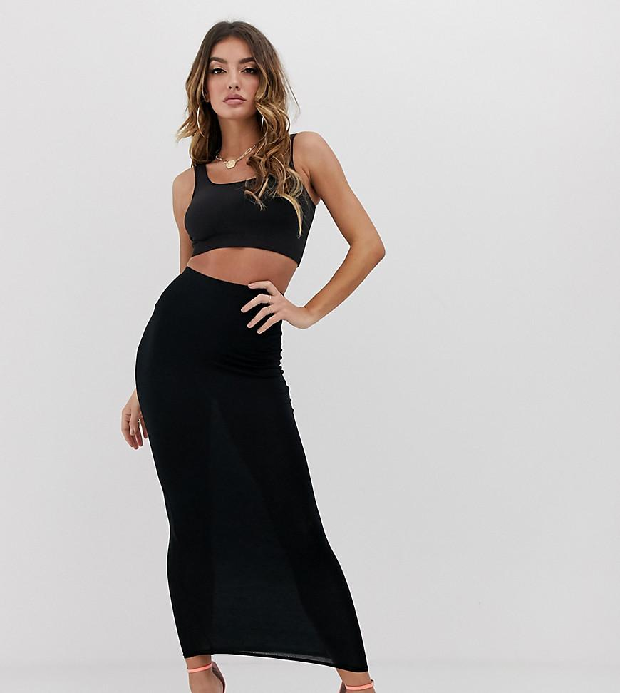 253a7fcc03ad PrettyLittleThing Basic Midaxi Skirt In Black in Black - Lyst