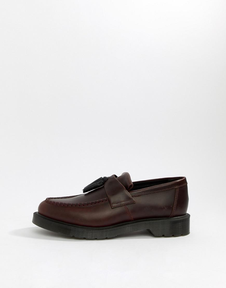 e6e5e233406 Lyst - Dr. Martens Adrian Tassel Loafers In Deep Red in Red for Men