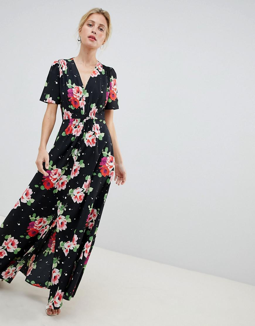 134ea413c4e ASOS. Women s Maxi Tea Dress In Floral Print