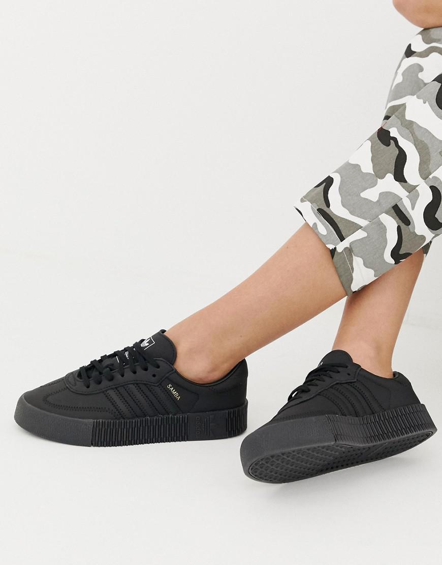 0456f2b82fc5eb adidas Originals Samba Rose Sneakers In Triple Black in Black - Lyst