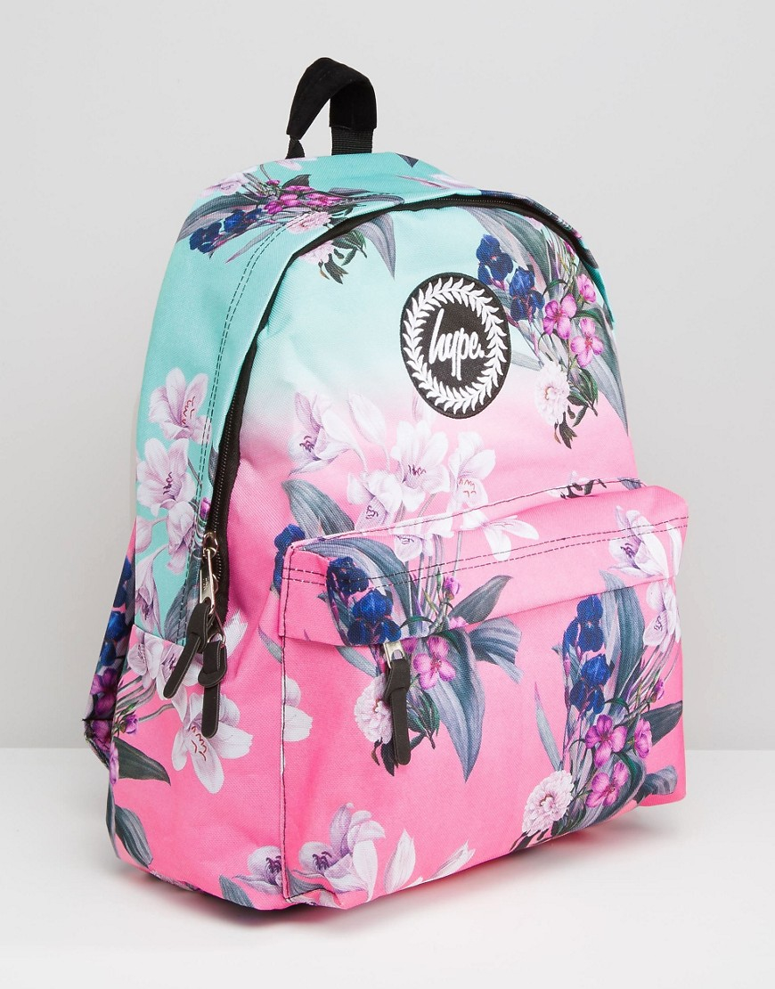 Hype Ombre Floral Backpack | Lyst
