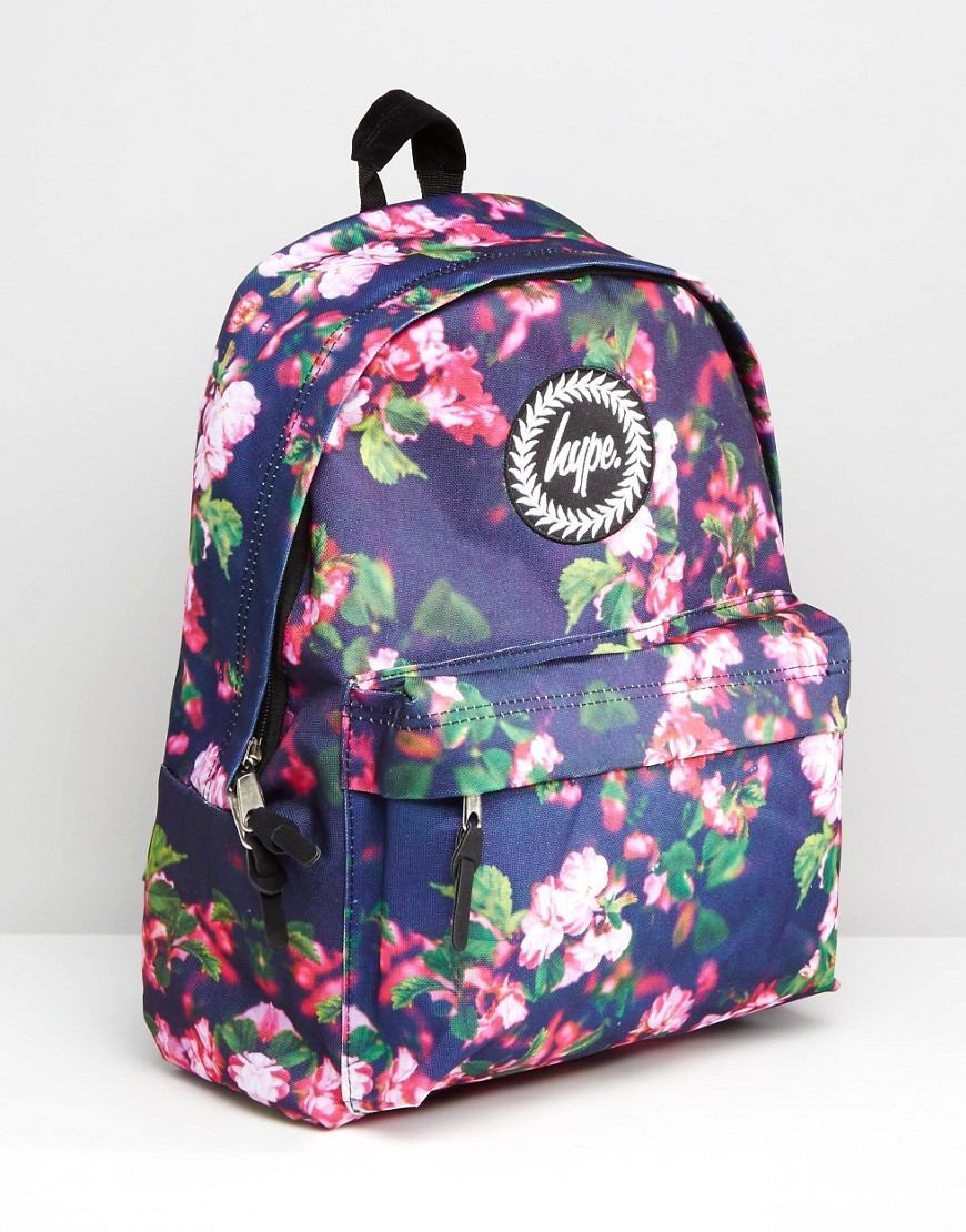 Lyst - Hype Exclusive All Over Small Floral Backpack In Blue