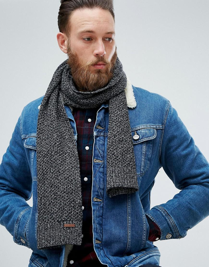 629354c86842 Knit Men Kapok Baker Ted Cable Gray Scarf For Lyst In Pw74qBS
