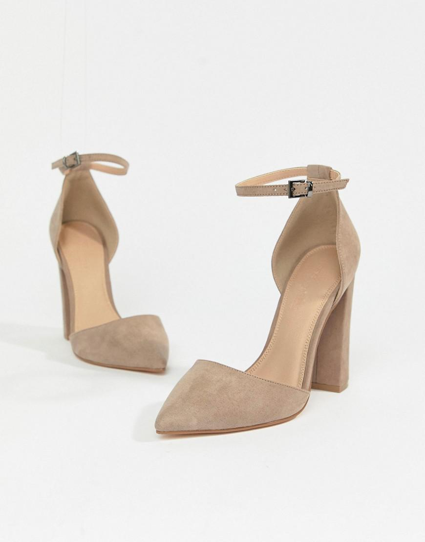e594313d7e91 Lyst - ASOS Pebble Pointed High Heels in Gray