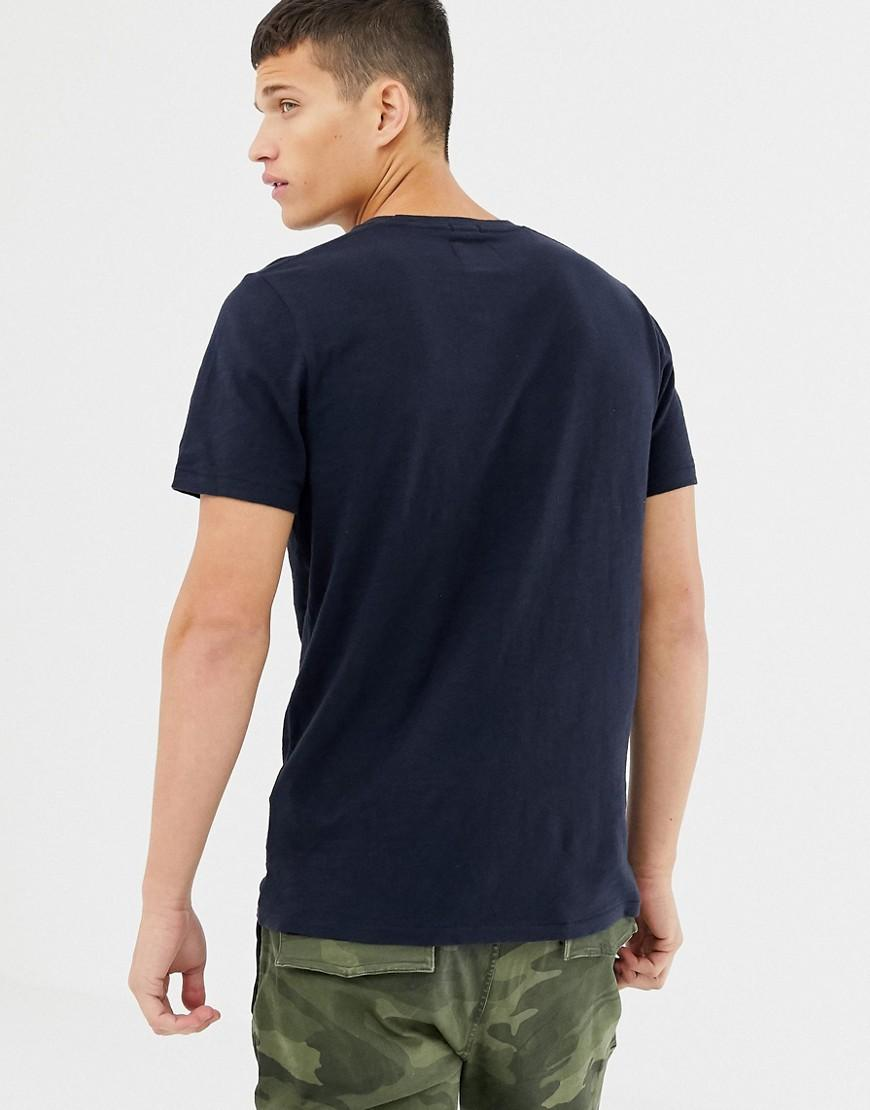 77643379 Abercrombie & Fitch Chest Panel Logo T-shirt In Navy in Blue for Men - Lyst