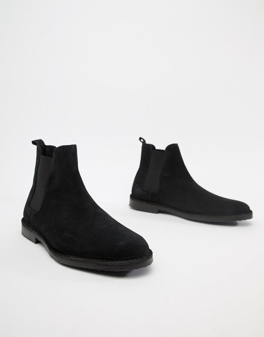 6c86d633fb0 Lyst - Office Iberian Chelsea Boots In Black Suede in Black for Men