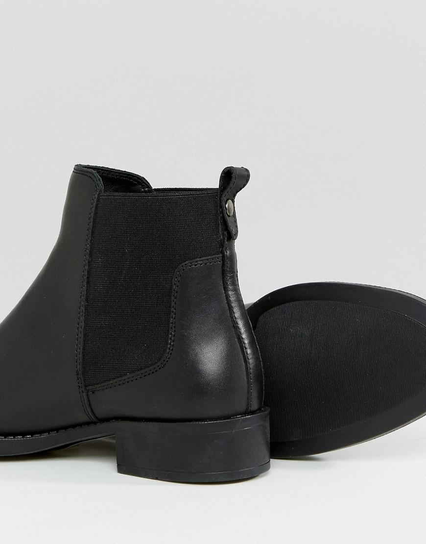 d83f810d3cd7 Oasis Flat Chelsea Boot in Black - Lyst