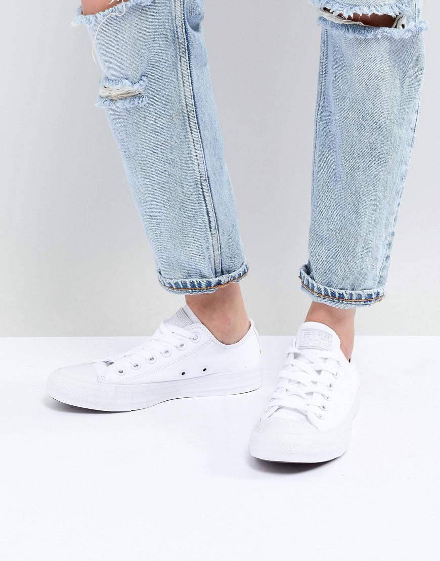 24ee2e83b060 Converse Chuck Taylor Ox Trainers In Triple White in White - Lyst