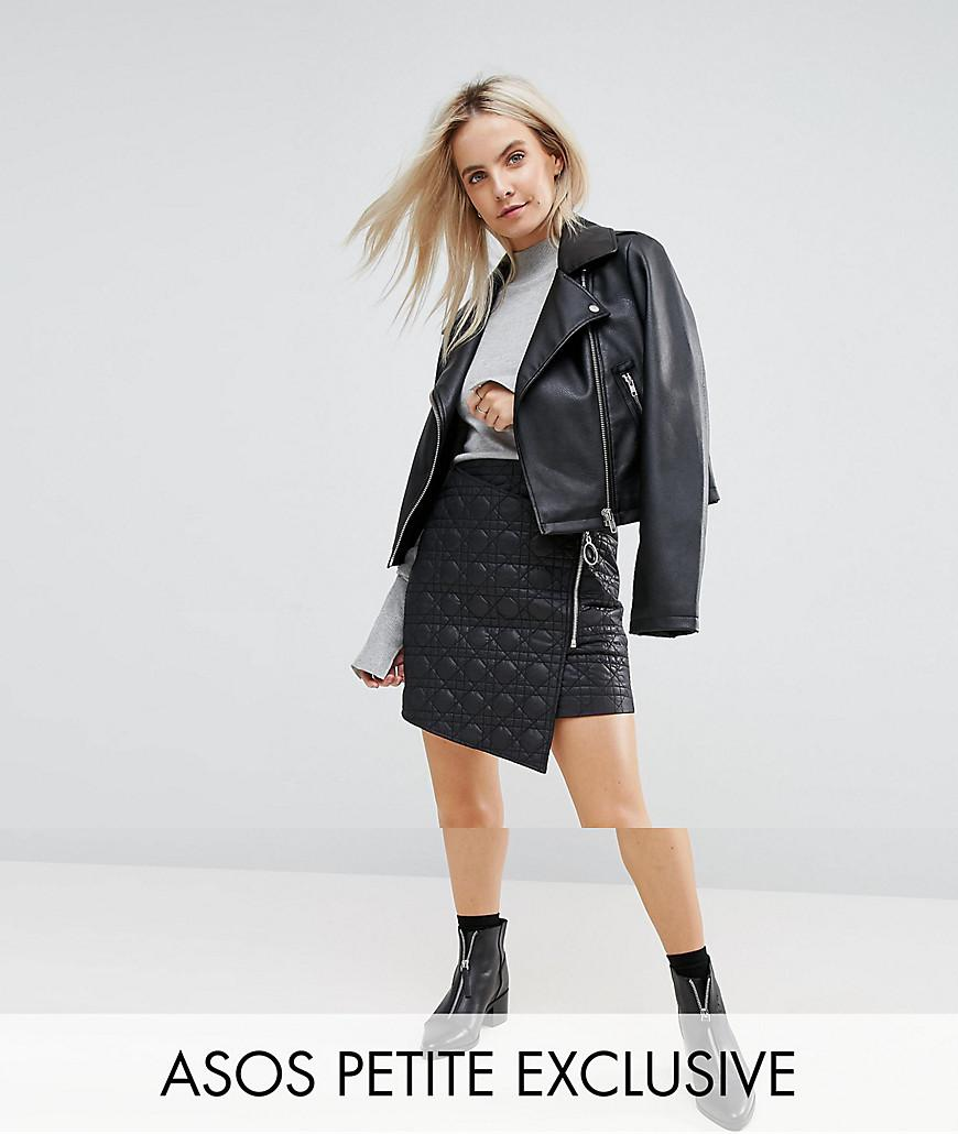 2f6607bd2 ASOS Exclusive Puffer Mini Skirt With Zip in Black - Lyst