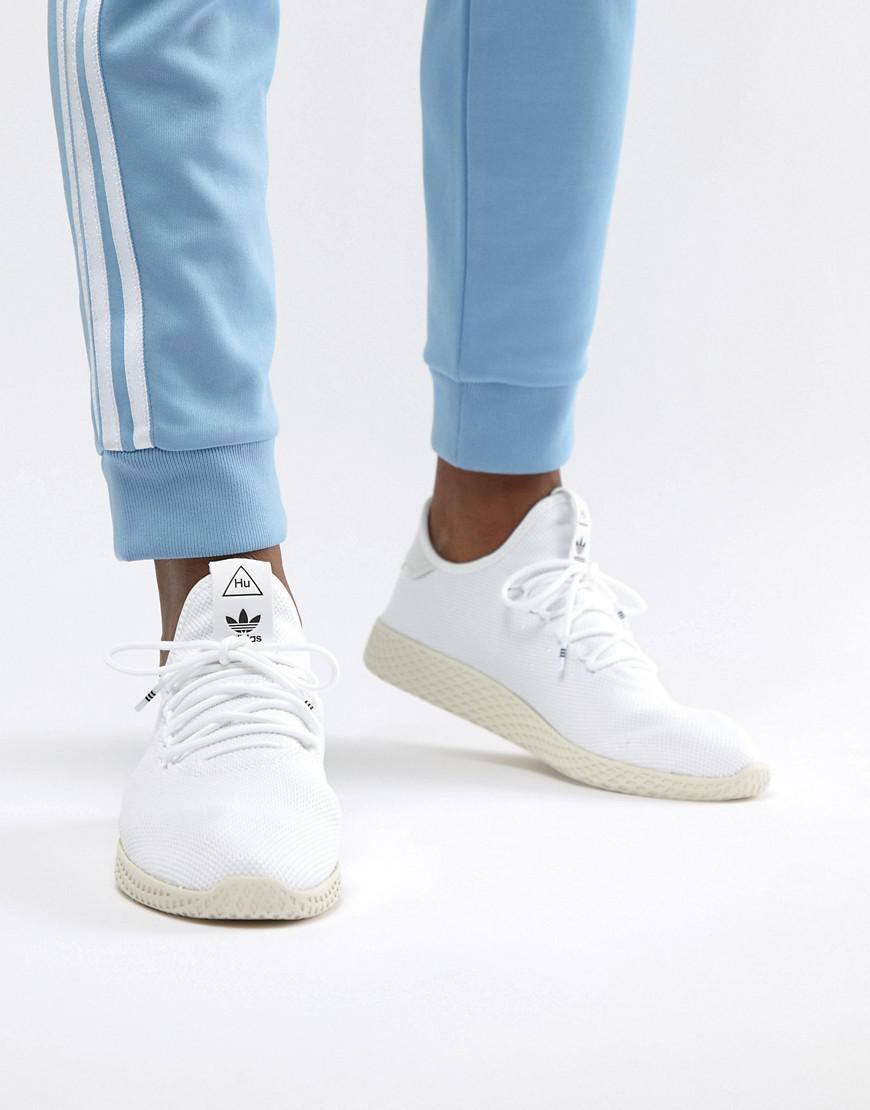 adidas Originals Pw Tennis Hu Trainers In White in White for Men - Lyst 1ad1dc056