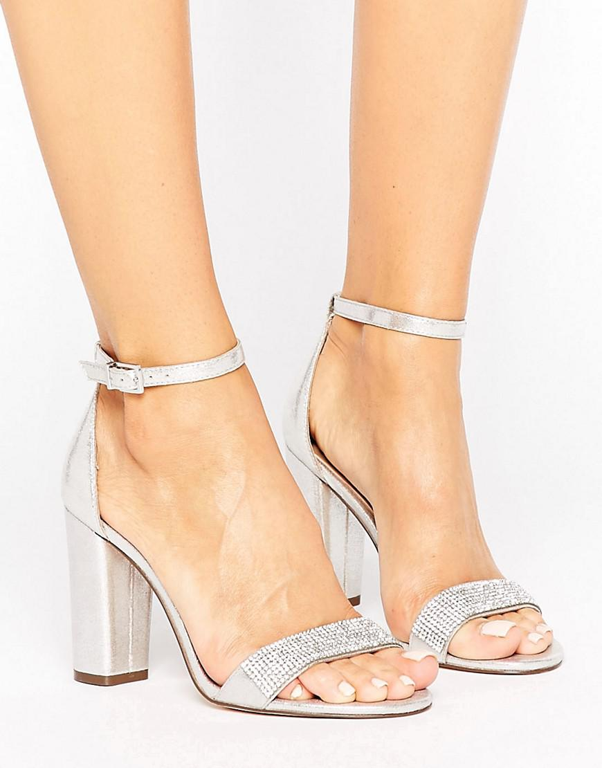 504a6848163 Call It Spring Mirelivia Silver Block Heel Sandals in Metallic - Lyst