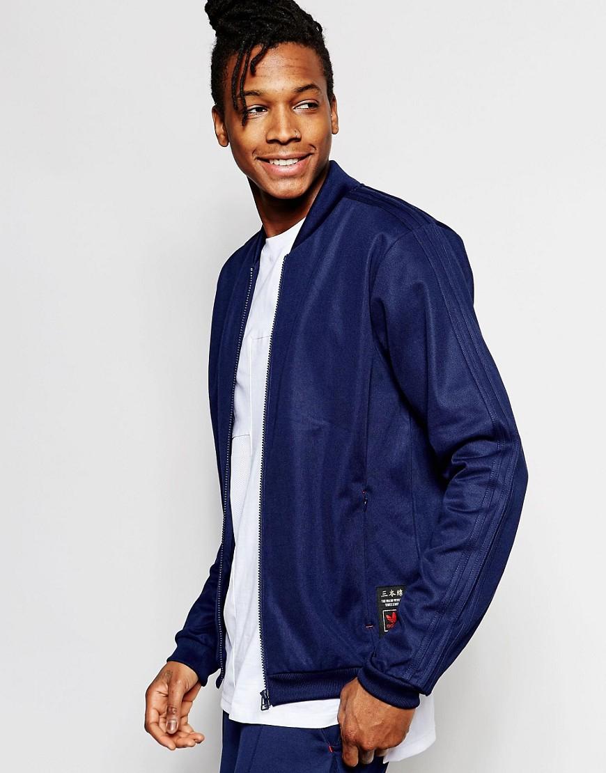 lyst adidas track top superstar originali budo az6365 in blu per gli uomini.
