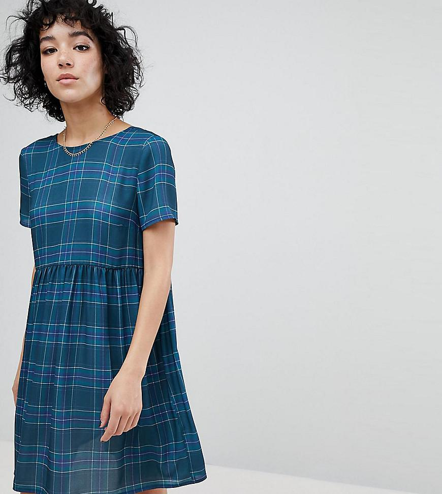 Reclaimed Vintage Inspired Check Smock Mini Dress Free Shipping Sale The Cheapest For Sale Sale Newest Latest vIihT0