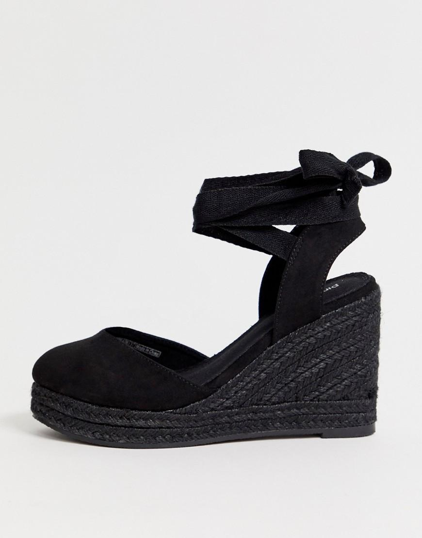 8b290ae07843 Pimkie Espadrille Wedge In Black in Black - Lyst