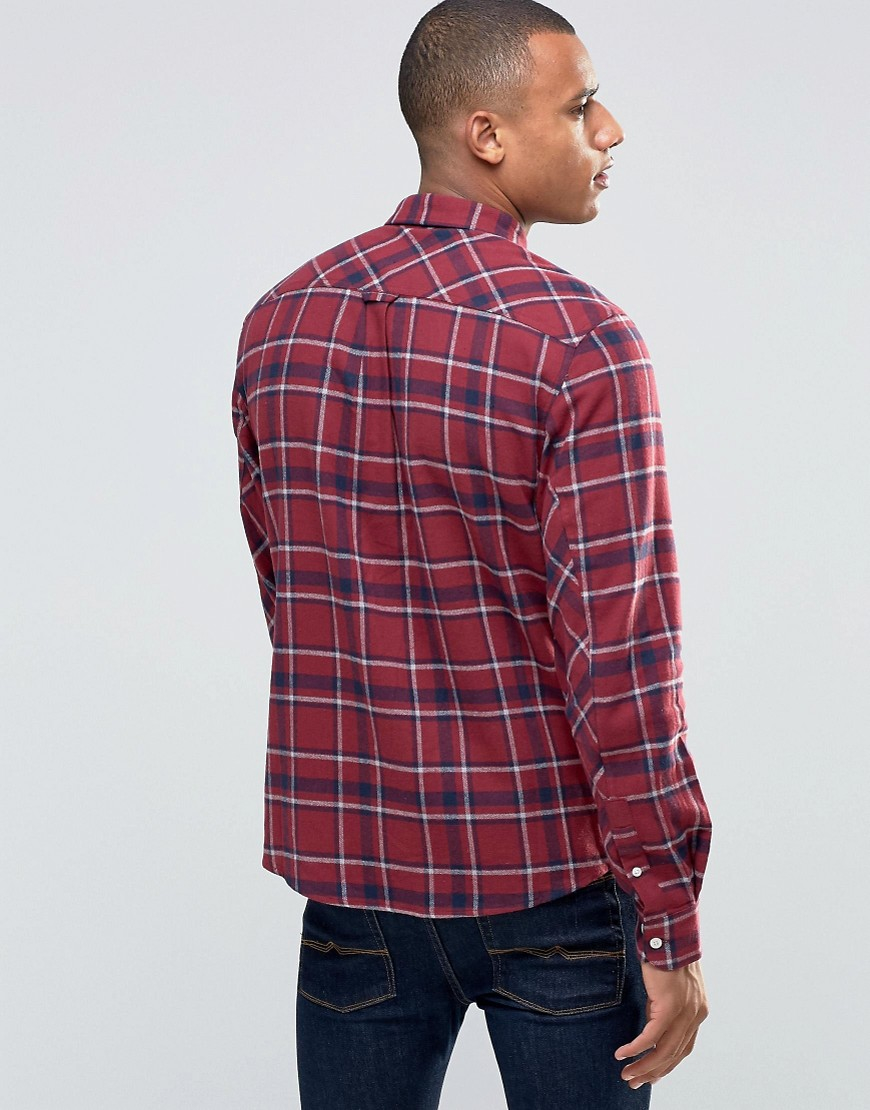 D-Struct Red Check Shirt in Red for Men