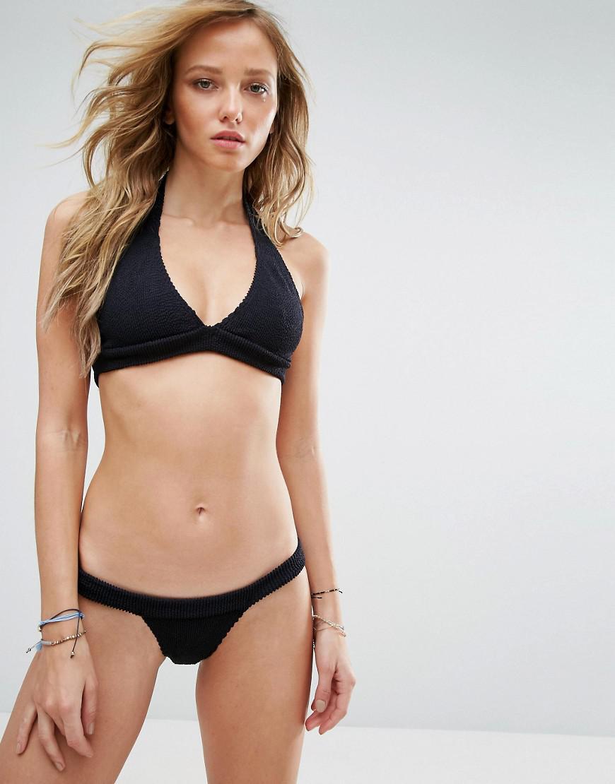 Bond-eye Bound By Bond-eye Crinkle Halter Bikini Set in Black - Lyst e39092b00