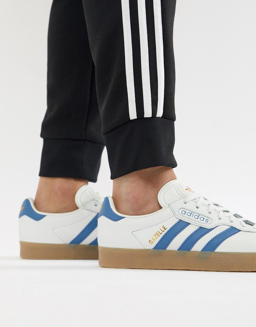 new concept 4f706 8ea77 adidas Originals. Mens Gazelle Super Sneakers In White Cq2798