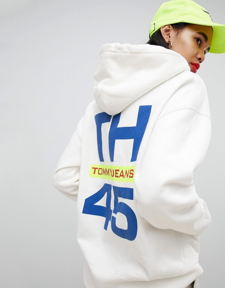 2ff76bd473d087 Tommy Hilfiger 90s Capsule 5.0 Sailing Hoodie With Sleeve Logo in White -  Lyst