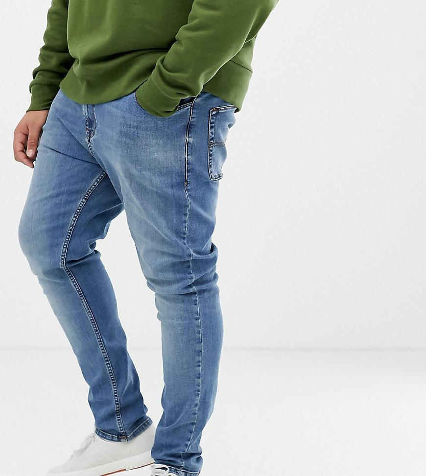 93ef27458cf Collusion Plus X001 Skinny Jeans In Blue Mid Wash in Blue for Men - Lyst