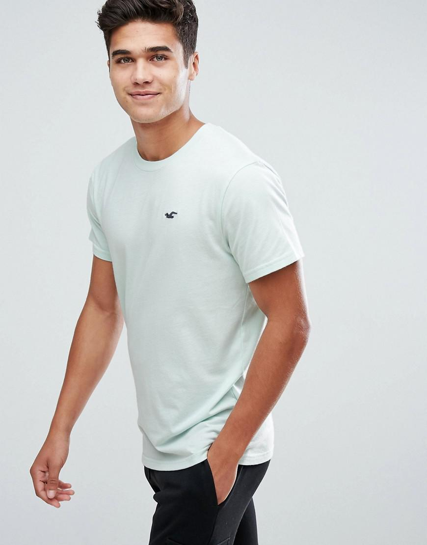 4db57076 Hollister Crew T-shirt Slim Fit Core Icon Logo In Turquoise in Blue ...