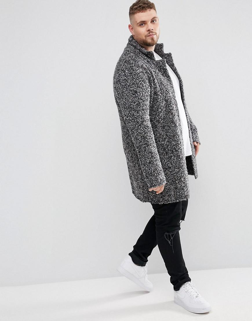 Asos Plus Longline Heavyweight Knitted Duster Cardigan In Charcoal ...