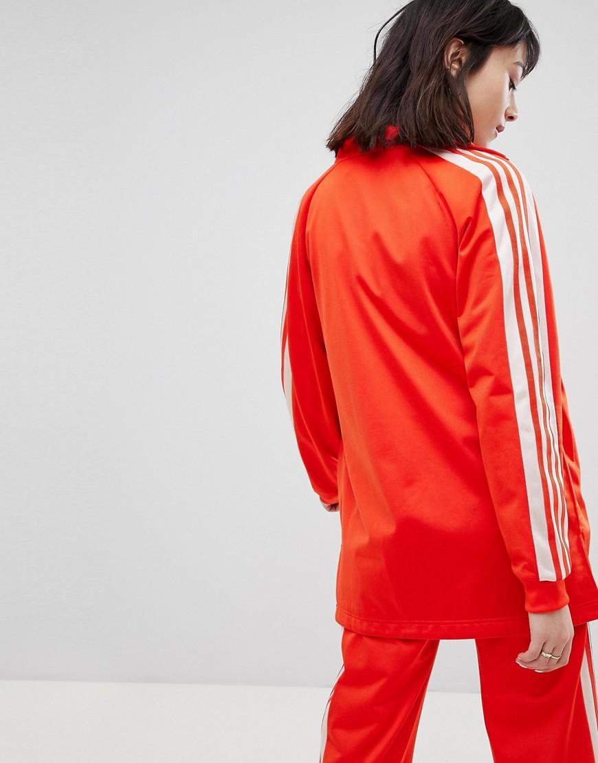 6a5a6b866d6b Lyst - adidas Originals Track Jacket In Red And Pink in Red