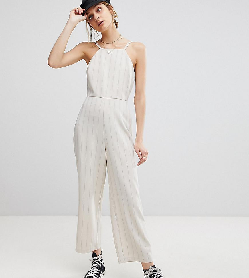 415fd81f99a Lyst - Reclaimed (vintage) Inspired Square Neck Jumpsuit in Black